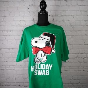Peanuts by Schulz Snoopy Holiday Swag t shirt